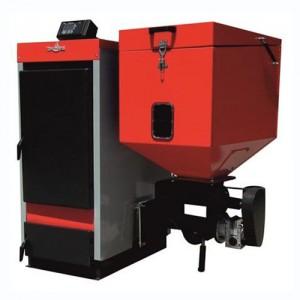 Cazan cu functionare pe pellet-biomasa si lemne ECOBIO - Cazane pe combustibil mixt MCL-BIO