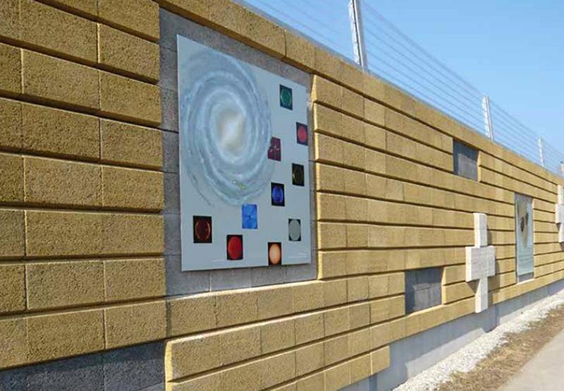 Zid estetic pentru atenuarea zgomotului cu panouri fonoizolante - Leier Durisol - Panouri fonoizolante Durisol produse