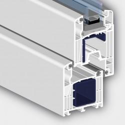 Profil 6002 AD cu 6 camere - Profile PVC pentru usi de exterior