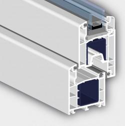 Profil 6002 cu 3 camere - Profile PVC pentru usi de exterior