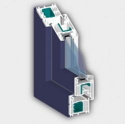 Profil 7001 AD ALUCLIP - Profile PVC pentru usi de exterior