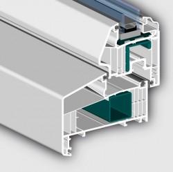 Profil 7001 AD cu 6 camere tip Olandez - Profile PVC pentru usi de exterior