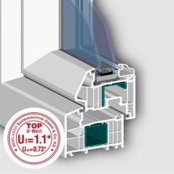 Profil 7001 AD cu 6 camere - Profile PVC pentru usi de exterior
