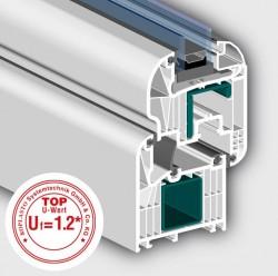 Profil 7001 MD cu 7 camere Swingline - Profile PVC pentru usi de exterior