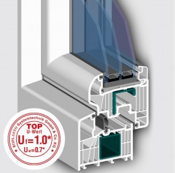 Profil 7001 MD cu 8 camere - Profile PVC pentru usi de exterior