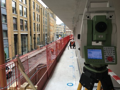 Trasari topografice la Londra, proiect hotel Nobu  - Consultanta si asistenta topografica pentru fatade si pereti
