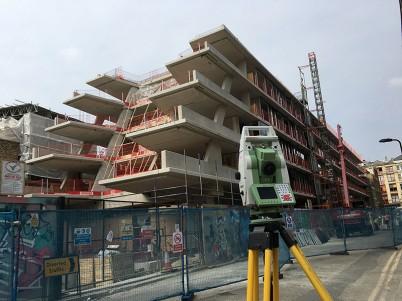 Proiect Nobu Hotel Londra trasari topografice de inalta precizie - Consultanta si asistenta topografica pentru fatade