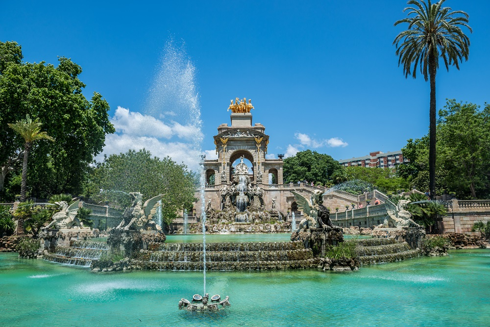 Fantana-Cascada Parc Ciutadella - Arhitectura din operele lui Antonio Gaudi