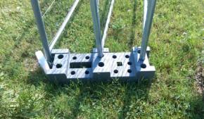 Suport gard mobil din beton reciclat - Accesorii pentru garduri mobile