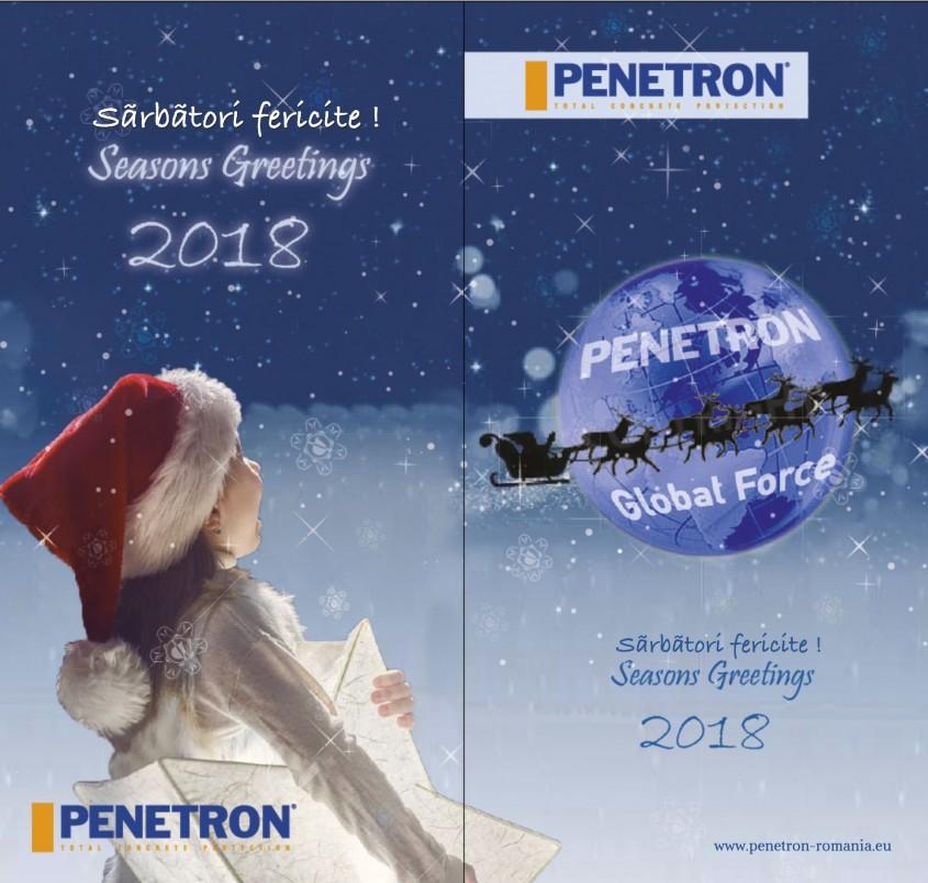 Echipa Penetron vă urează Sărbători Fericite! - Echipa Penetron vă urează Sărbători Fericite!