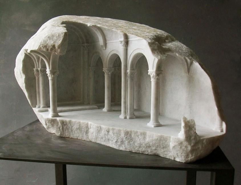 Matthew Simmonds - interioare in miniatura sculptate in marmura - Mathew Simmonds - miniaturi marmura