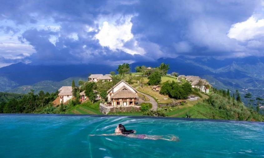 Complex de bungalouri ascuns în versantul montan vietnamez - Complex de bungalouri ascuns în versantul montan