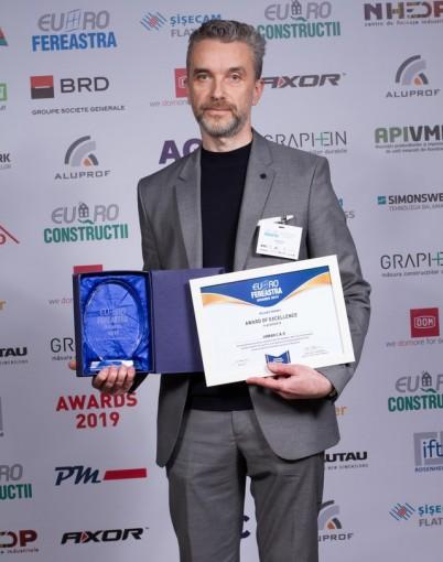 Diploma de Excelenta la Euro Fereastra 2019 - URBAN C&O la EURO Fereastra 2019