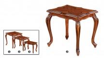 Set de 3 Masute pentru ceai - Mijlocie - Mobilier Colectia Toscana
