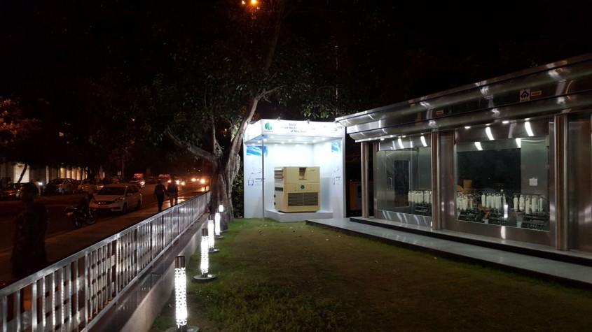 Mașina care extrage apa din aer este folosită în scopuri umanitare - Mașina care extrage apa
