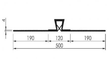 Profil etansare cu prindere mecanica A 500 KL - Profile etansare cu prindere mecanica