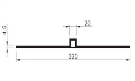 Profil etansare cu prindere mecanica DA 320 ambele parti netede - Profile etansare cu prindere mecanica