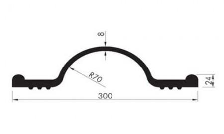 Profil etansare cu prindere mecanica OKB 30 cu material incorporat - Profile etansare cu prindere mecanica