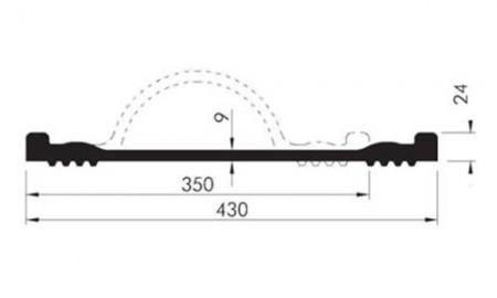 Profil etansare cu prindere mecanica OKB 35 plat cu material incorporat - Profile etansare cu prindere mecanica