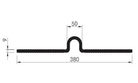Profil etansare cu prindere mecanica Omega 380 cu material incorporat - Profile etansare cu prindere mecanica