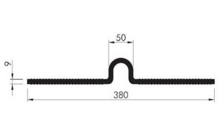 Profil etansare cu prindere mecanica Omega 380 - Profile etansare cu prindere mecanica
