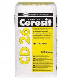 Mortar fin de reparatie a betonului pentru grosimi de la 30 la 100 mm - CD 26 - Componentele sistemului PCC - Ceresit