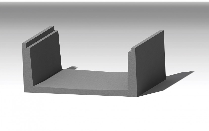Rigola din beton - Rigola si dala din beton