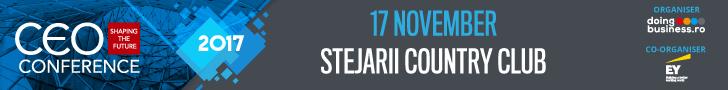 Shaping the future; Evenimentul anual de referință pentru elitele mediului de afaceri românesc are loc la București, în data de 17 noiembrie 2017 - CEO Conference - Shaping the future; Evenimentul anual de referință pentru elitele mediului de afaceri românesc are loc la București, în data de 17 noiembrie 2017