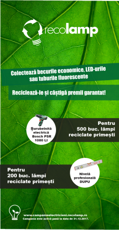Recolamp oferă premii garantat celor care colectează becuri economice, LED-uri și tuburi fluorescente! - Recolamp oferă premii garantat celor care colectează  becuri economice, LED-uri și tuburi fluorescente!