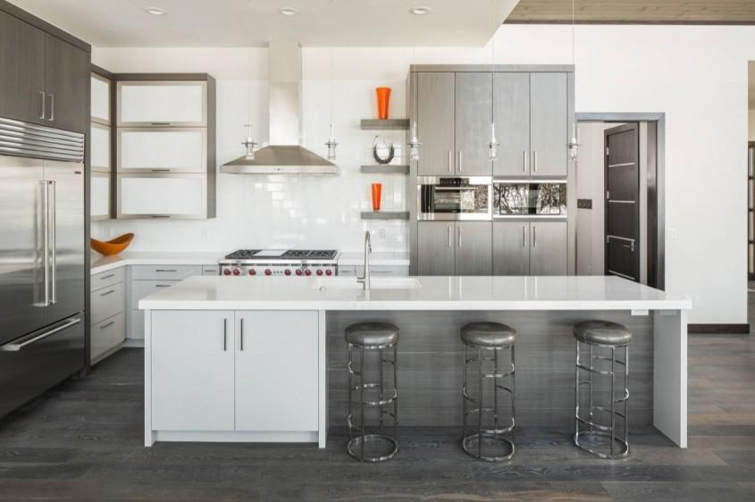 Inspirație pentru bucătării minunate în alb și gri - Inspirație pentru bucătării minunate în alb și