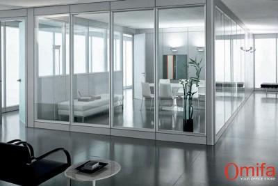 Perete autoportant de compartimentare din sticla - TECTON - Pereti structurali modulari din sticla - OMIFA