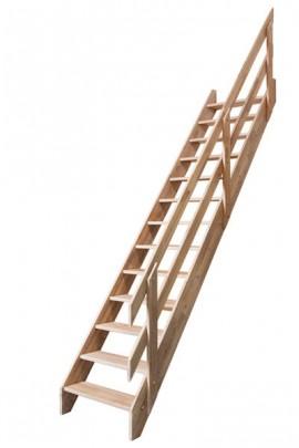 Scara pe structura din lemn Ardennes - Gama de scari SECUNDARE