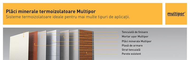 Placi minerale termoizolatoare - Sistem Multipor pentru termoizolare interioara
