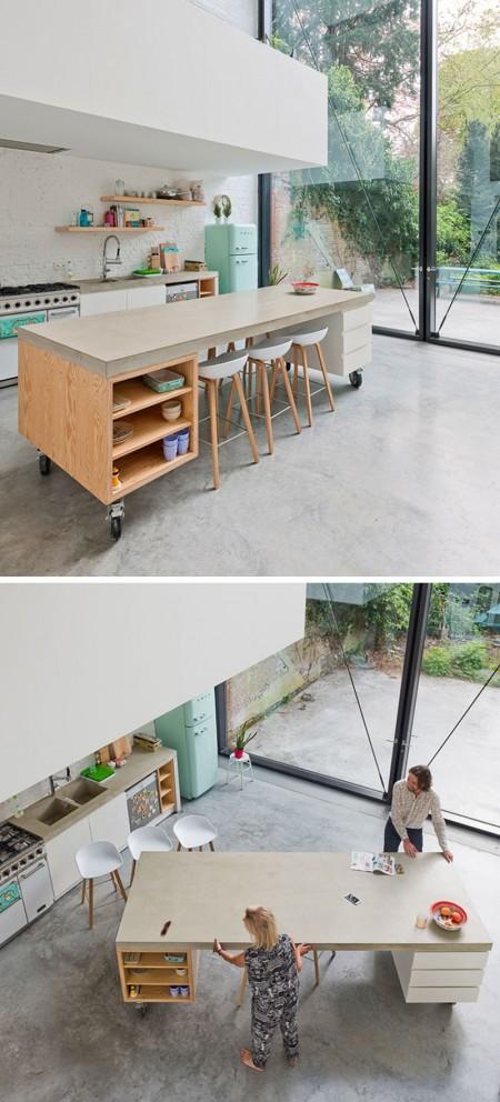 Insule mobile pentru o bucatarie mai usor de adaptat nevoilor familiei  - Insule mobile pentru o bucatarie mai ușor de adaptat nevoilor familiei