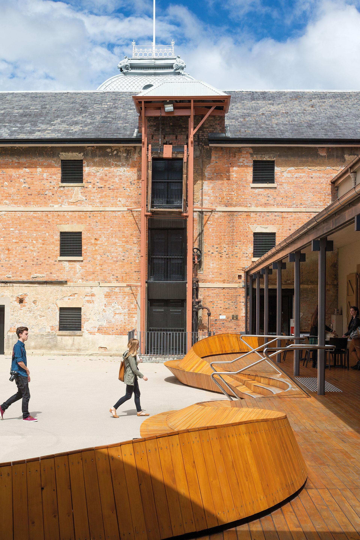 Cladirea muzeului Tazmanian - Cladirea muzeului Tazmanian