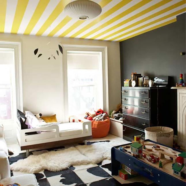 Aveti o camera cu pereti inalti? Decorati-va tavanul! - Alte materiale