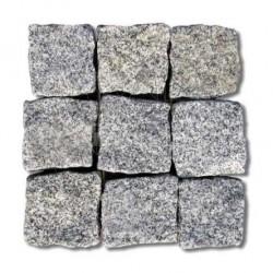 Piatra Cubica Granit Gri Sare si Piper Natur 10 x 10 x 5cm (1tona = 8-10mp) - Piatra cubica
