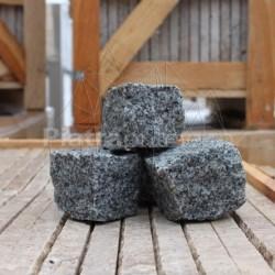 Piatra Cubica Granit Gri Sare si Piper Natur 7 x 7 x 7cm (1tona = 6-7mp) - Piatra cubica