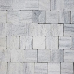 Piatra Cubica Marmura Kavala Antichizata 10 x 10 x 4-5cm - Piatra cubica