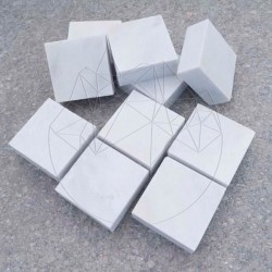 Piatra Cubica Marmura Kavala Neslefuita 10 x 10 x 3cm - Piatra cubica
