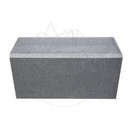 Bordura Granit Gri Antracit (Bizotata 1L - 2cm) 10 x 15 x 50cm - Piatra cubica