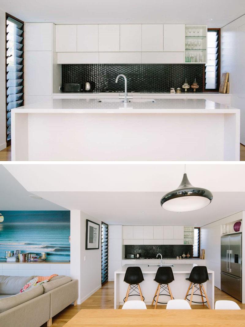 Idei si materiale pentru panourile de perete dintr-o bucatarie alba - Idei si materiale pentru panourile