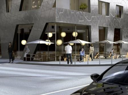 Cladirea Chausseestrasse - Imobil de apartamente cu forme ascutite si fatada metalizata marca Daniel Libeskind