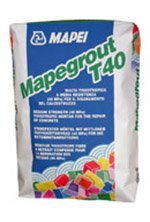 Mortar de reparatie, fara alunecare pe verticala - MAPEGROUT T40 - Tratamente, protectii anticorozive