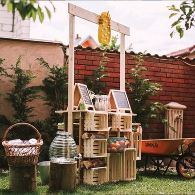 Ladite din lemn cu rol de depozitare - Produse Player Com