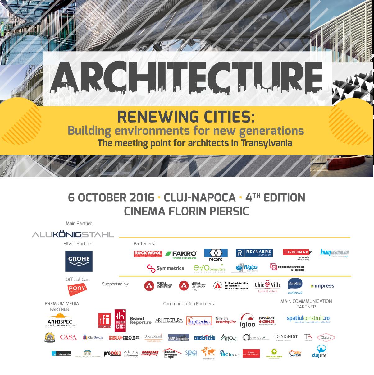Architecture conference expo prezentari si dezbateri Architecture si