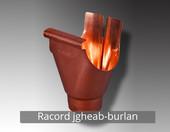 Racord jgheab-burlan - Componentele sistemului pluvial NOVATIK RONDA (Cupru):