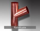 Ramificatie - Componentele sistemului pluvial NOVATIK RONDA (Cupru):
