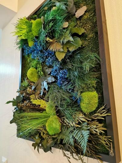 Tablou multicolor, cu muschi, licheni si frunze decorative - Tablouri cu muschi si licheni stabilizati