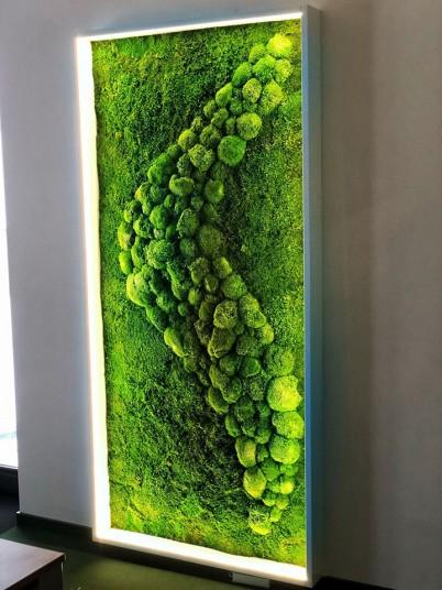 Detaliu tablou verde - Tablouri cu muschi si licheni stabilizati